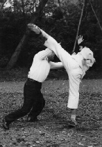 Sawai sensei defense against roundhouse kick