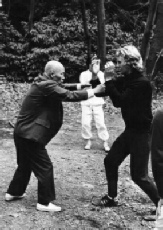 Sawai sensei teaches Ron Nansink defense principles 2